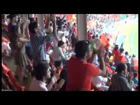 The Crowd having a great time at the Chinnaswamy stadium