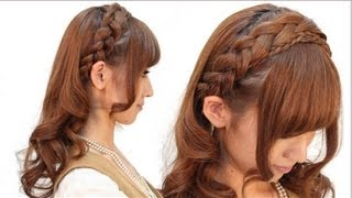 Repeat youtube video 編み込みカチューシャふわくしゅ巻き 【English subs】 山下 珠美 hairarange tutorial