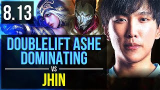 TL Doublelift - ASHE vs JHIN (ADC) ~ Dominating ~ NA Master ~ Patch 8.13