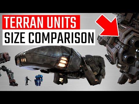 StarCraft 2 Terran Units Size Comparison