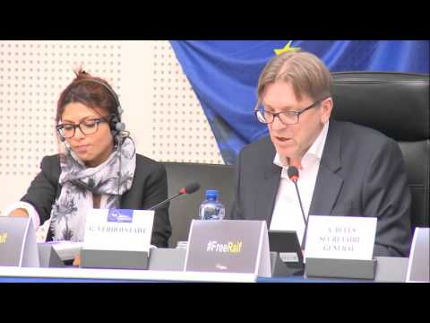 Ensaf Haidar, the wife of Raif Badawi came to ALDE Group