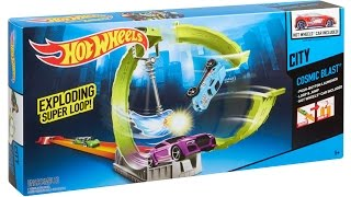 Hot Wheels City Cosmic Blast with Exploding Super Loop!