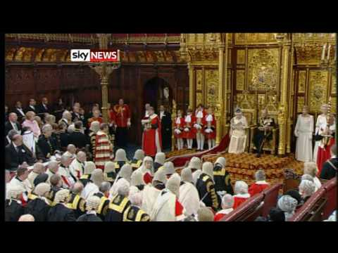 State Opening of Parliament, Speech from The Throne 25 May 2010. Sky TV