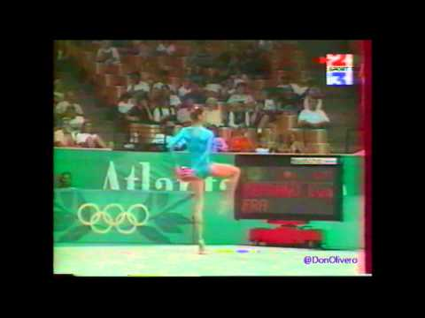 Eva SERRANO (FRA) ball - 1996 Atlanta Olympics Qualifs