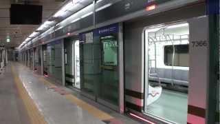 ソウル地下鉄7号線 SR000系(SRシリーズ) 温水駅発車