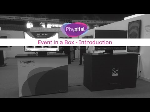 Event in a box pop up interactive presentation system for events and trade shows