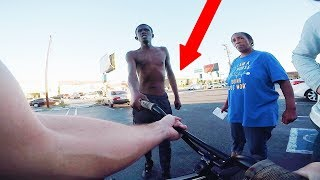 *FOOTAGE* THIS GUY TRIED TO STEAL MY BIKE! (BMX IN COMPTON)