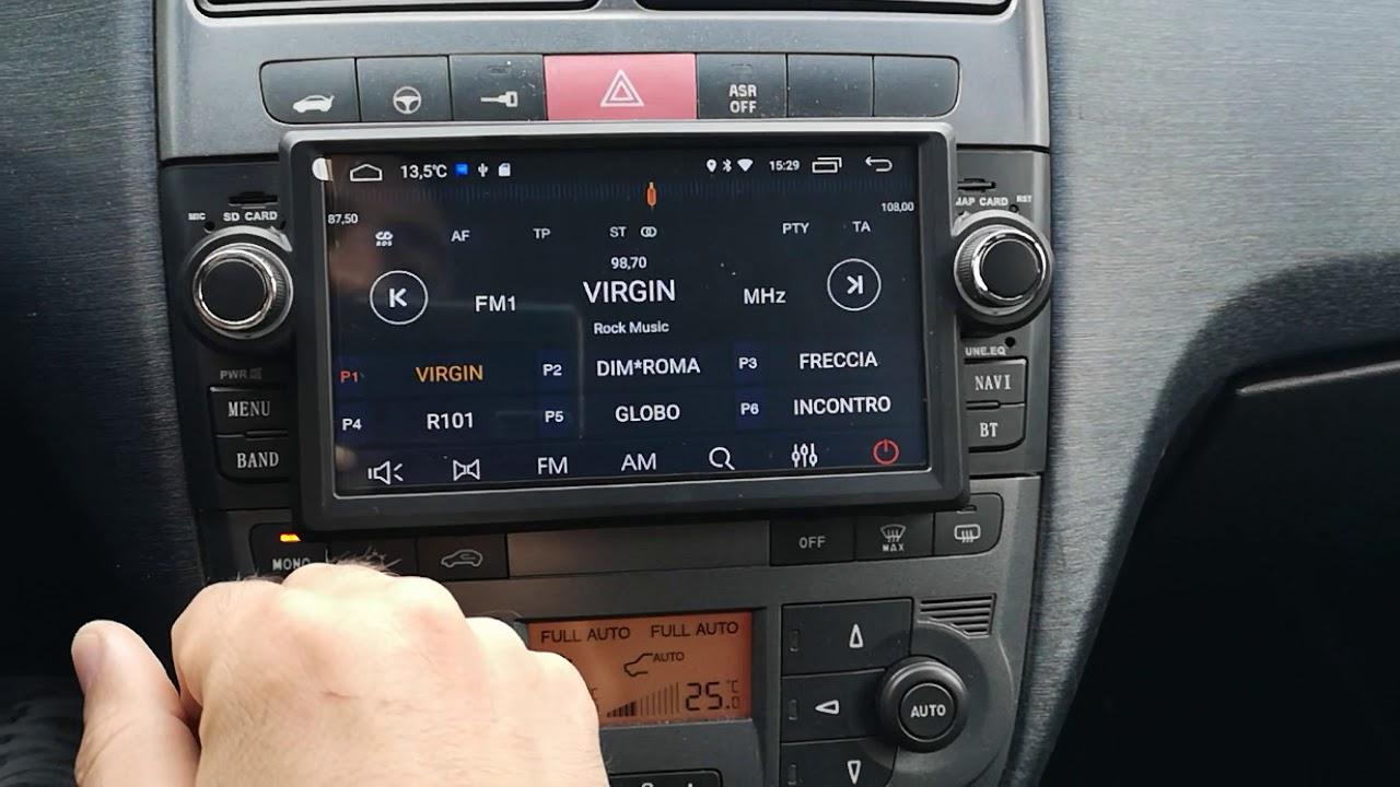 "Autoradio CK012FT Fiat grande punto Android 7"" CARKIT - YouTube"