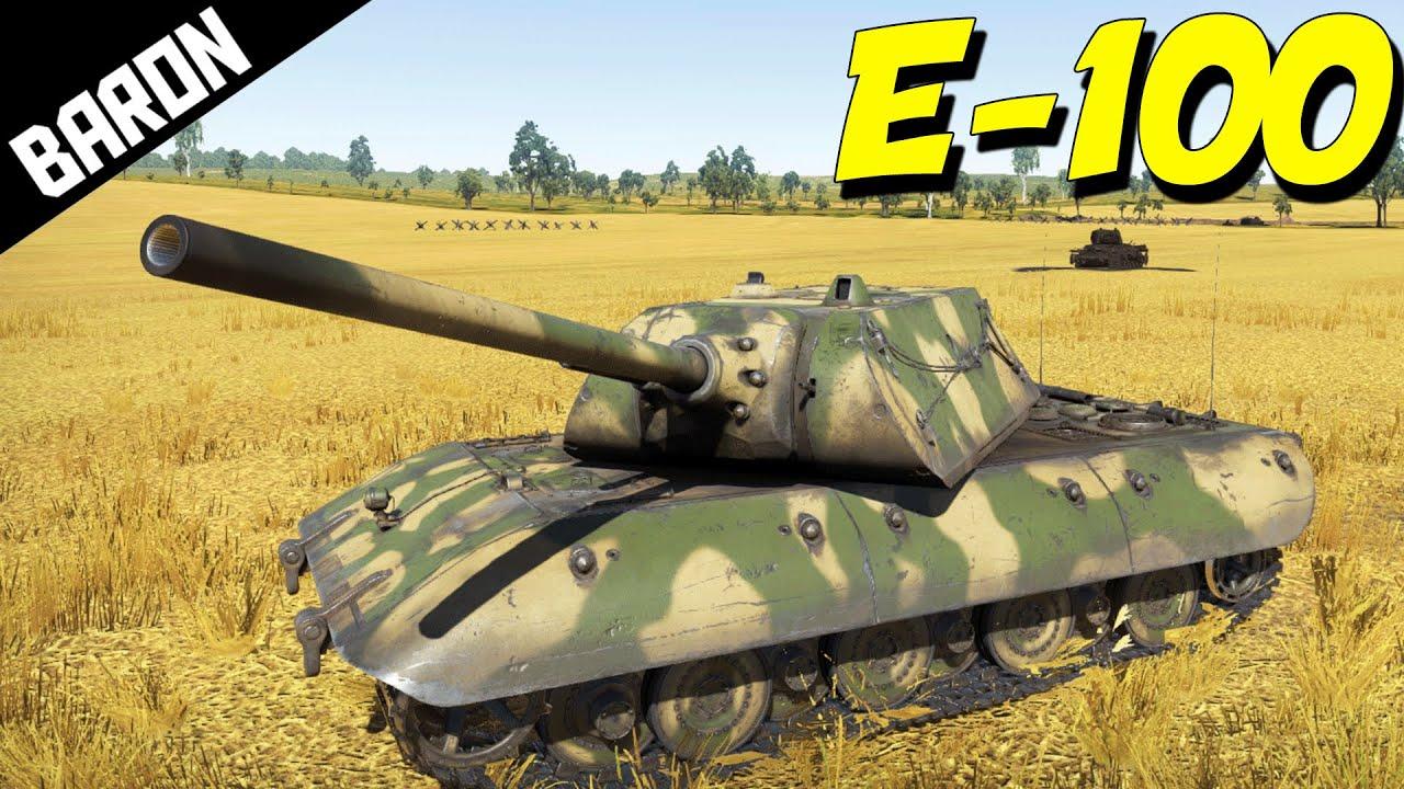E-100 GAMEPLAY! War Thunder Tanks Gameplay - Super Rare ...