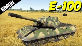 E-100 GAMEPLAY!  War Thunder Tanks Gameplay - Super Rare Tank