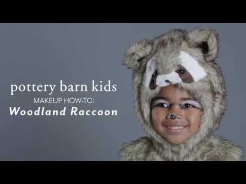 Halloween Makeup Tutorial - Woodland Raccoon Costume for Pottery Barn Kids