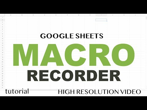 Google Sheets - Macro Recorder Tutorial - How to Record an Apps Script