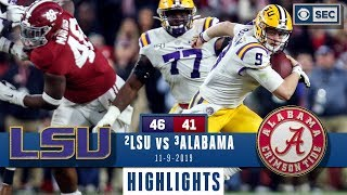LSU vs Alabama Highlights  Tigers take down Tide in INSTANT CLASSIC  CBS Sports