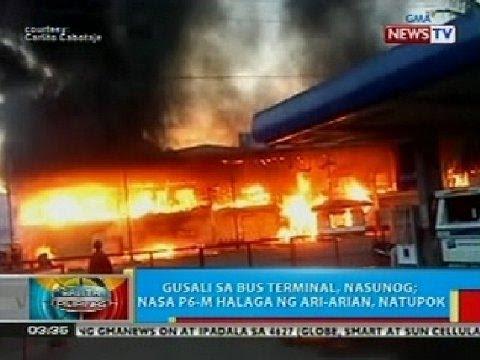 BP: Gusali sa bus terminal sa Misamis Oriental, nasunog