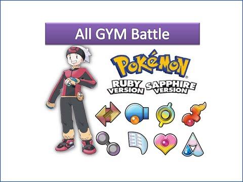 Pokemon Ruby & Sapphire - All Gym Battle