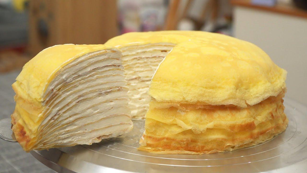 Custard Cream Mille Crepe Cake