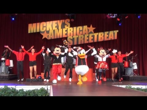Mickey's America Streetbeat FULL SHOW w/ Mickey, Minnie, Donald, Goofy at Epcot, Limited Time Magic
