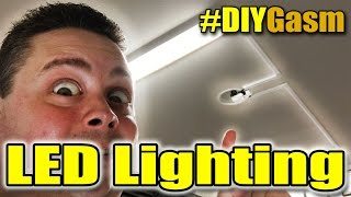 How To Install Cheap LED Shop Lamps Using Existing Lighting Fixture Power