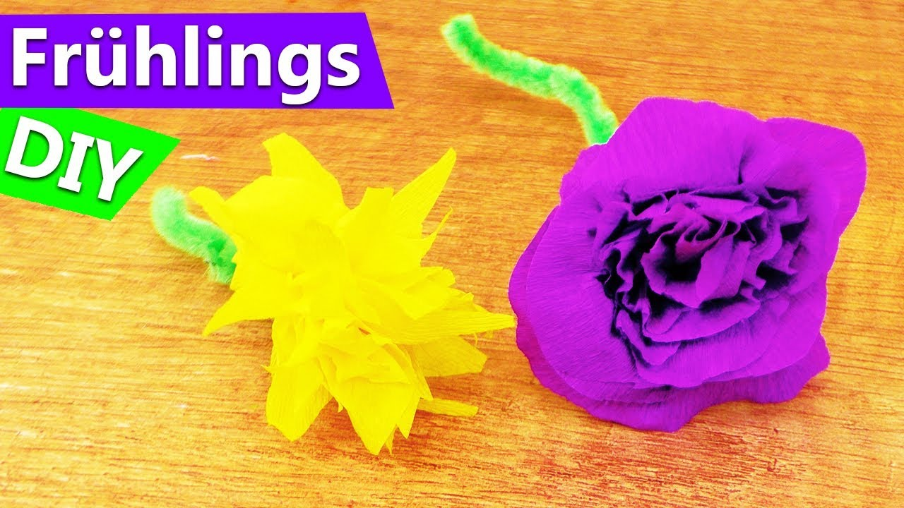 Fruhlings Blumen Diy Super Schone Blumen Aus Kreppapier Selber
