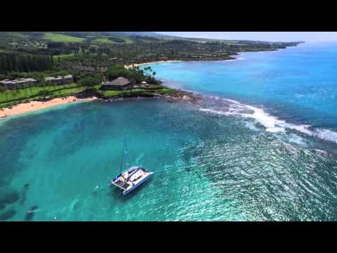 Kapalua beach day by drone