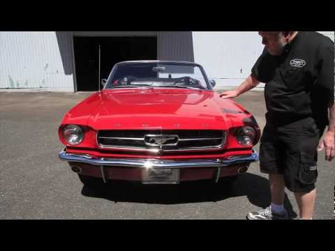 """1965 Ford Mustang Convertible  """"SOLD""""  Drager's International Classic Sales  206-533-9600"""