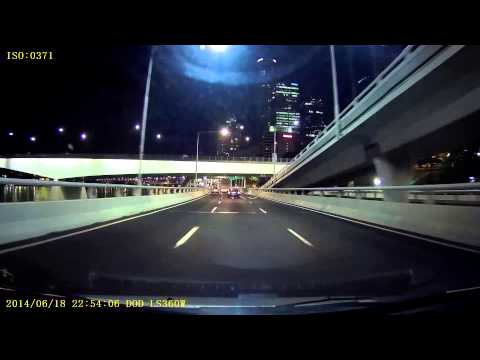 Dod Tech LS360W night test video River Side Express Highway Brisbane