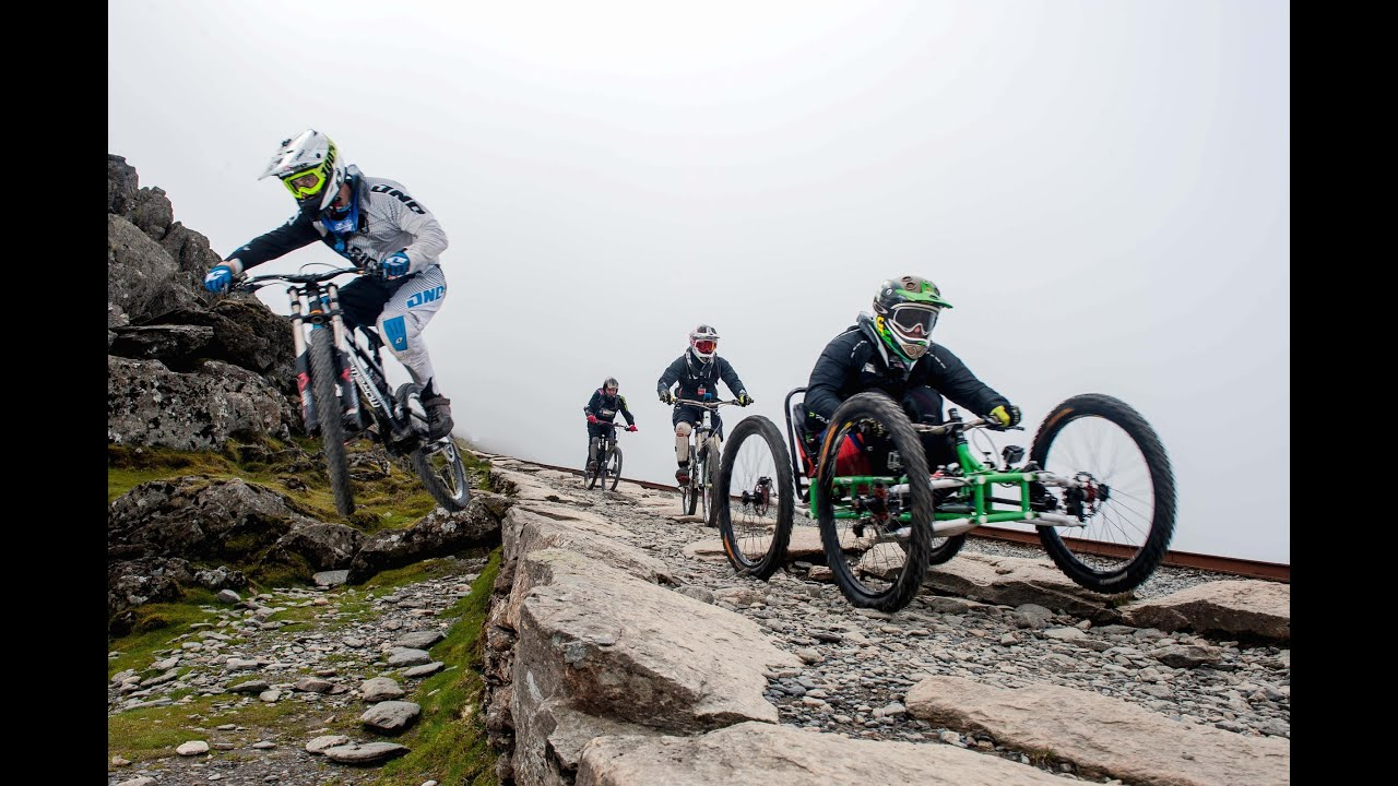Project Enduro Snowdon Downhill 4 Wheel Bike Youtube