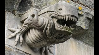 """The Mystery Of Why There's An """"Alien"""" Gargoyle On A 12th-Century Scottish Abbey May Have Been Solved"""