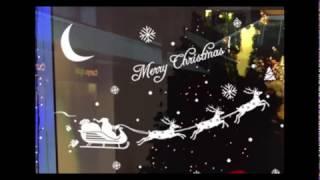 Новогоднее Украшение Рождество Стекло Стены Стикеры Окна Наклейки