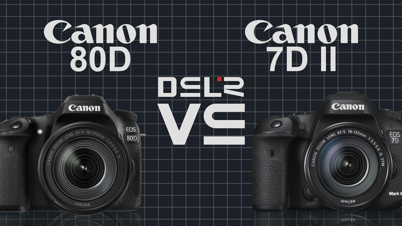 Canon EOS 80D vs Canon EOS 7D Mark II