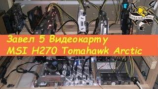 Завел 5 видеокарту!!! на MSI H270 Tomahawk Arctic  Престройка и чистка ферм