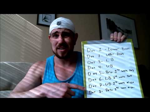 Workout schedule for people on swing shifts