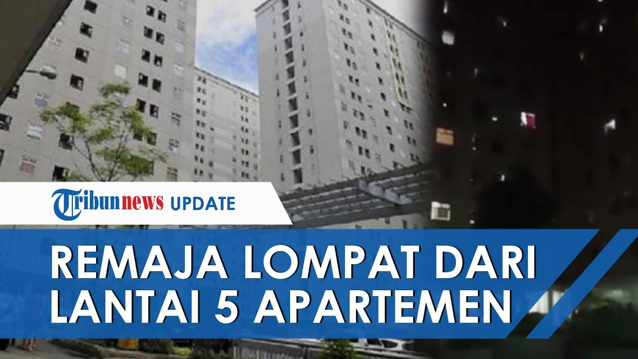 Detik-detik Aksi Nekat Remaja Laki-laki Gelantungan lalu Lompat dari Lantai 5 Apartemen di Jakarta