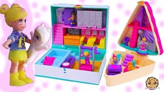 Baby Sister Nursery  + School + Birthday Party Tiny Doll Polly Pocket World Video