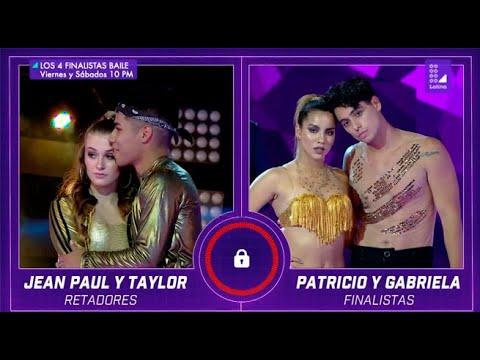 Taylor y Jean Paul llegaron a Los Cuatro Finalistas Baile para demostrar su amor y talento