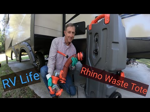 Reviewing The Camco Rhino Heavy Duty 28 Gallon Portable Waste Tote Youtube