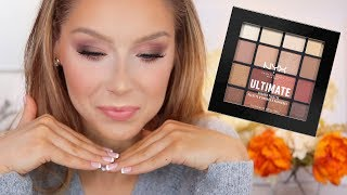 "NYX ""Warm Neutrals"" Ultimate Shadow Palette Tutorial + Review"