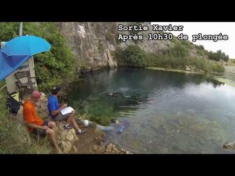 Exploration de la résurgence de Font Estramar à -248m caméra Gopro