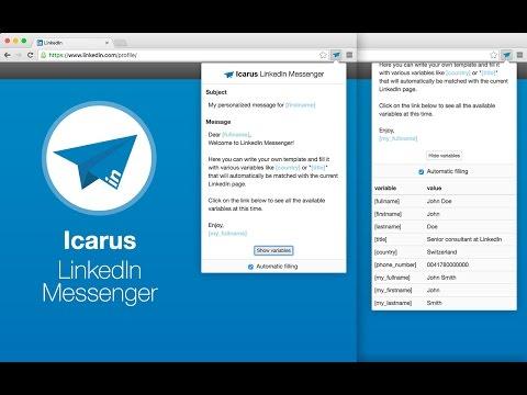Icarus: LinkedIn messenger - Chrome Web Store