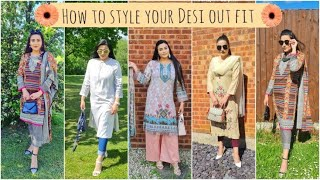 How to style your desi summer outfits | How to style eastern outfits | shalwar kameez design 2021