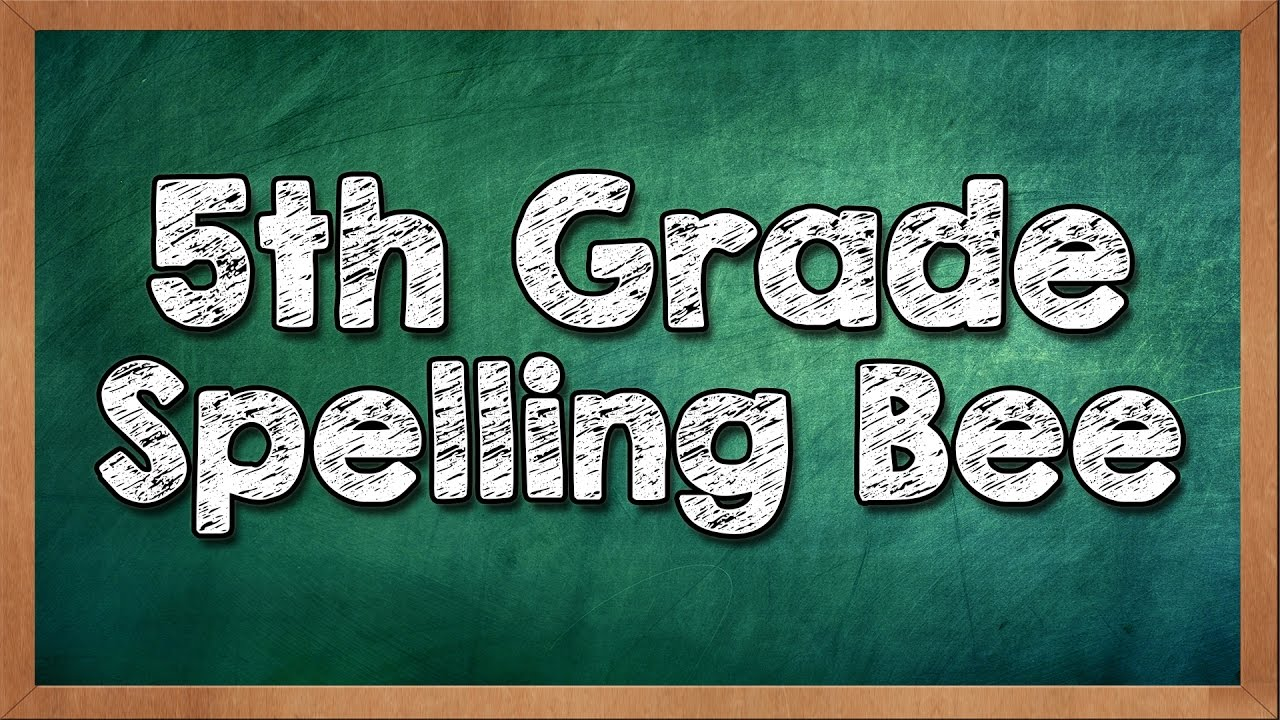 Can You Win a 5th Grade Spelling Bee?