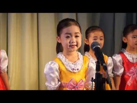 Children's performance at the Sinuiju Kindergarten, North Korea