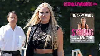 """Lindsey Vonn Promotes Her Book """"Strong Is The New Beautiful"""" At Hollywood TV Interview 10.10.16"""