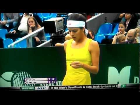 WTA LIVE  sexy ana ivanovic vs samantha stosur KREMLIN CUP  MOSCOW 2012