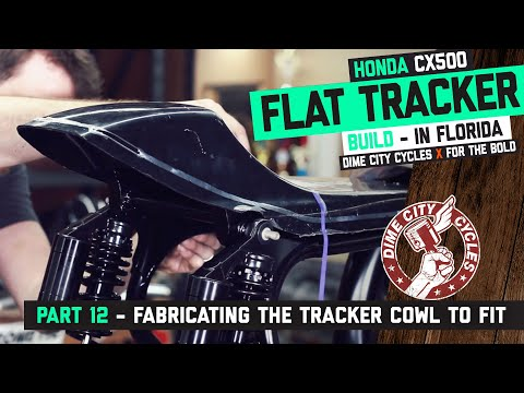CX500 Flat Tracker Build Part 12 - Fabricating the tracker cowl to fit