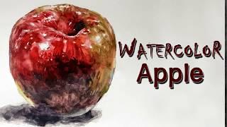 사과 수채화 [ Watercolor-APPLE ] 정물…
