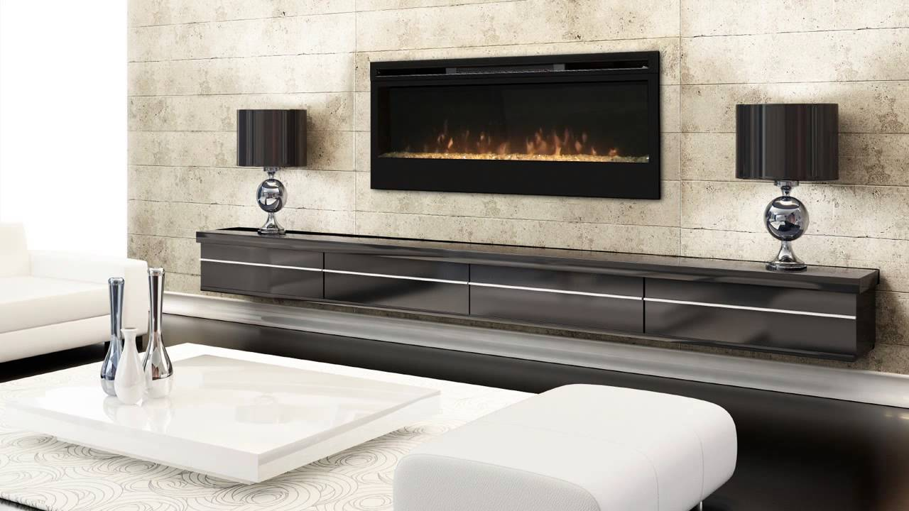 Fireplace Tv Stand Black Synergy 50-inch Wall Mounted Electric Fire From Dimplex