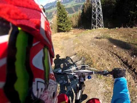 Riding first time this year in bikepark planai 2013