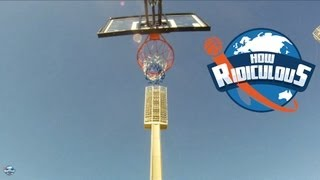 OFFICIAL Guinness World Record for Highest Basketball Shot - How Ridiculous
