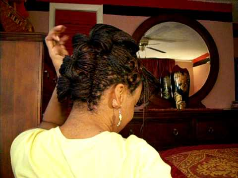 Microbraids Quot Updo With Bangs Quot Hairstyles Part 5 Of 6 Youtube